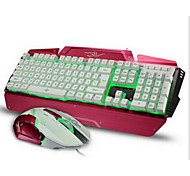 1600Dpi  Wired Game USB Keyboard & Mouse Suit With LED