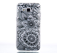 TPU Material Black Two Flowers Pattern Cellphone Case for Samsung Galaxy J710/J510/J5/J310/G530/G360