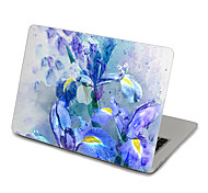 MacBook Front Decal Laptop Sticker Blue Floral For MacBook Pro 13 15 17, MacBook Air 11 13, MacBook Retina 13 15 12