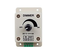 LED Lights Dimmer Switch for Led Strip Light or Led Lamp (DC 12-24V 8A)