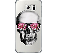 Fashion Skull Pattern Soft Ultra-thin TPU Back Cover For Samsung GalaxyS7 edge/S7/S6 edge/S6 edge plus/S6/S5/S4