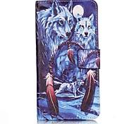 Tuta portafoglio / A portafoglio / Capovolgere Fantasia animale Similpelle Difficile Copertura di caso per Apple iPhone 7 / iPhone 7 Plus