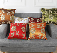 1 PC PP Cotton Chinese Retro Style Pillow Case 17 by 17 inch Floral Pattern