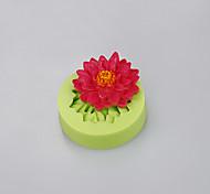 Силиконовые формы цветы формы фондант торт кекс шоколадная форма для выпечки плесень цвет случайный