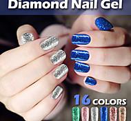 Modelones Nail Art Diamond Nail Gel Polish Noble Color 10ml Glitter Lacquer