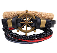 Unisex Fashion Jewelry Bohemia Style Handmade Adjustable Loom Leather Bracelet Casual/Daily Gift