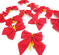 12pcs / lot del bowknot de navidad regalo de navidad del árbol de navidad