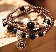Femme Bracelets de rive Bracelets Mode Gemme Forme de Fleur Bijoux Pour Décontracté