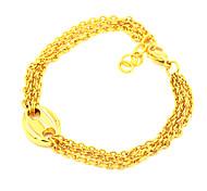 Fashion Multi-Layer Thin Twist Link Chain Bracelets