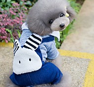 Dog Clothes/Jumpsuit Dog Clothes Winter Spring/Fall Animal Cute Fashion Light Blue Light Green