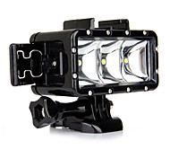 Go Pro Diving LED Light Underwater Video Light Lamp  One Battery  Buckle Mount For Gopro Hero 4 3 3 2 SJ4000 Sport Cam