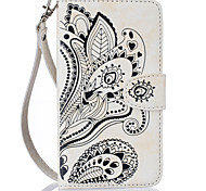 Peacock Flower  Pattern PU Leather Cases Covers for Apple iphone 6 plus 6 SE 5S 5