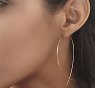 Women New Extreme Simplicity Abstract Art Copper Handmade Earrings Alloy Fish Earrings 1 pair