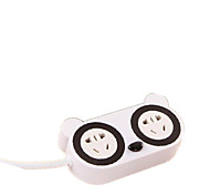 Akeid Multi - Function Cute Cartoon Power Socket Safe Charging USB Plug.