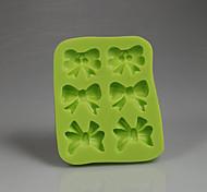 Зеленая форма бантов шоколадная конфета 3d силиконовая помадка форма украшения выпечка инструменты аксессуары для кухни цветной случайный