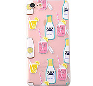 Fruit Juice Pattern High Quality Scrub TPU Material Soft Phone Case For iPhone 7 7 Plus