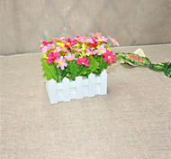 1PCS 16cm Engineering Product Daisies Stockade Pot Fake Orchid Artificial Flower Set