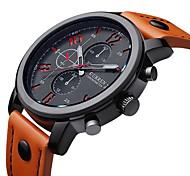 CURREN Herren Armbanduhr Quartz Japanischer Quartz Leder Band Schwarz Blau Rot Orange Rot Blau Schwarz Schwarz/Orange Orange/Weiß