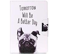 Dog Pattern Wake Up PU Leather Flip Full Body Case for iPad mini123 iPad mini 4