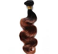 100g / pc человеческие волосы тела 10-18inch ombre черные каштановые человеческие волосы переплетаются