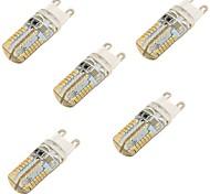 3 G9 Luminárias de LED  Duplo-Pin T 64 SMD 3014 150 lm Branco Quente / Branco Frio Decorativa AC 220-240 V 5 pçs
