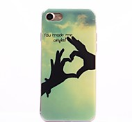Para Funda iPhone 7 / Funda iPhone 7 Plus IMD Funda Cubierta Trasera Funda Corazón Suave TPU Apple iPhone 7 Plus / iPhone 7
