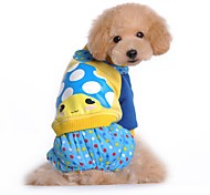 Cute Mushroom Printing Coat with Pants  for Pets Dogs (Assorted Sizes and Colours)