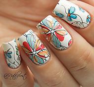 2 Patterns/Sheet Cute Flower Nail Art Water Decals Transfer Sticker BORN PRETTY BP-W17