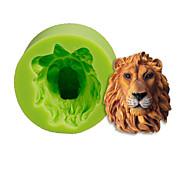 Львиная голова силиконовая форма торты украшение выпечка сахара инструменты инструменты полимерная глина фимо помада сделать цвет случайный