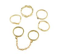 Fashion Gold Color Midi Fingers Rings Set