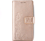 Butterflies Embossed PU Leather Material Leather  for Samsung Galaxy S5 S6 S6 edge