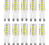 10шт g9 51smd 2835 400-500lm теплый белый / белый декоративный / водонепроницаемый ac220-240v светодиодный двухконтактный светильник