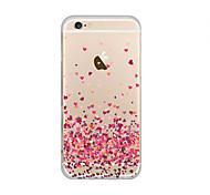 maycari® pavimentada com amor transparente TPU suave de volta caso para iphone 6 mais / 6s iphone mais