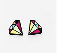 Korea Tidal Range Of Catwalk Models Cute Earrings Small Fresh Color Triangle Drip Drip Earrings Wholesale