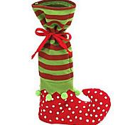 симпатичный Санта-Клаус ботинка эльфа обуви подтяжок задыхаться конфеты мешок подарка для рождественские украшения