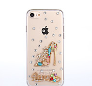 Per Custodia iPhone 7 Custodia iPhone 7 Plus Custodia iPhone 6 Custodie cover Con diamantini Custodia posteriore Custodia Sexy Resistente