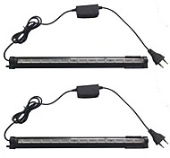 2PCS 38CM QP 14LED Multicolor Aquarium Fish Tank Waterproof LED Light Bar Submersible Down Lamp AC85-265V