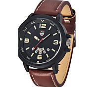 Top Brand Mens Sports Watches Male Leather Army Watch Clock Men Date Quartz Wrist Watch Military Watch