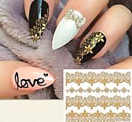 моды золочение 3d Lacework наклейки для ногтей