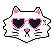 3D Love Cat Silicone Case for iPhone 6s 6 Plus SE 5s 5