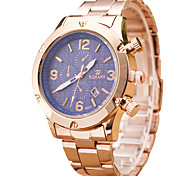 Men's Quartz Casual Wrist Watch Stainless Steel Round Alloy Dial Watch Business Classic Watch Cool Watch Unique Watch