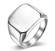 Fashion jewelry 925 silver titanium steel ring square Band rings for men wedding rings TGR023