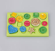 Home made button shape silicone cake mold for fondant cake mold chocolate  fimo clay decoration tools