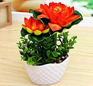 1PCS Graceful Miniascape Fake Lotus Tree Home Decor Artificial Flower
