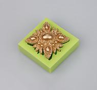 Fondant украшения плесень инструменты торт состоит из ювелирных силиконовый шоколад плесень цвета случайных