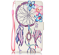 Campanula Pattern PU Leather Lanyard phone Case For LG K7 LG LS775/STYLUS2