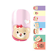 Fashion Love Winnie the Pooh Bear Nail Decal Art Sticker Gel Polish Manicure Beautiful Girl