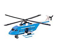 Bloques de Construcción Para regalo Bloques de Construcción Modelismo y Construcción Aeronave Plástico Por encima de 6 Blanco / Azul