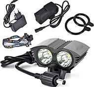 Велосипедные фары велосипед свечения лампы огни безопасности LED Cree XM-L T6 Велоспорт Очень легкие 18650 литиевая батарейка 6000 Люмен