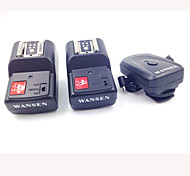 4-em-1, 4-Channel 433MHz remoto sem fio de disparo Flash Set para Canon / Nikon / Pentax Camera